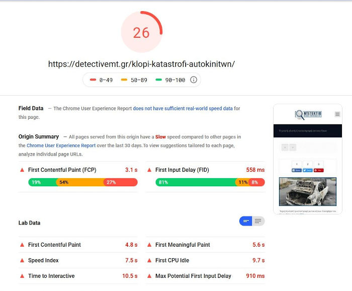 page speed ranking without amp